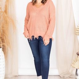 Commitment To Cool Mauve Distressed Sweater FINAL SALE | The Pink Lily Boutique