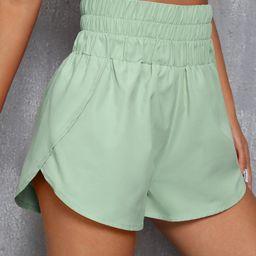 Wrap Detail Sports Shorts   SHEIN