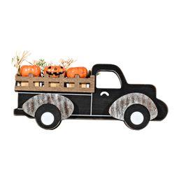Way To Celebrate Halloween Wood Tabletop Decor, Pickup Truck with Pumpkins - Walmart.com   Walmart (US)