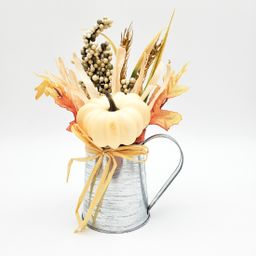 "Way to Celebrate Harvest Beige Foam Pumpkin Table Piece in Tin Decoration 8"" - Walmart.com   Walmart (US)"
