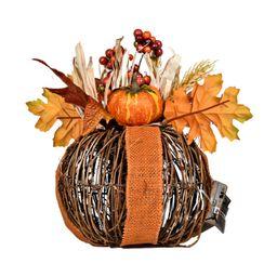 Harvest 7`` Twig Pumpkin Orange - Burlap - Walmart.com   Walmart (US)