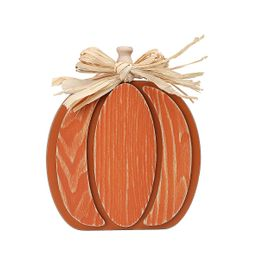 Way To Celebrate Orange Wooden Pumpkin; Harvest Decor - Walmart.com   Walmart (US)