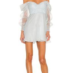 x Sofia Richie Burna Mini Dress in Pale Blue   Revolve Clothing (Global)