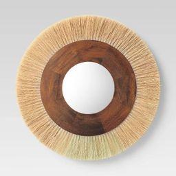 Decorative Round Mirror Natural - Threshold™ | Target