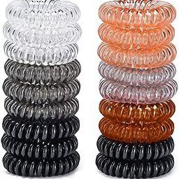 18 Pack Hair Ties,Spiral elastics, Multi Color Hair Scrunchies, No Crease Spiral Hair Elastics,Ha...   Amazon (US)