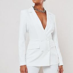 Missguided - White Co Ord Double Breasted Blazer   Missguided (US & CA)