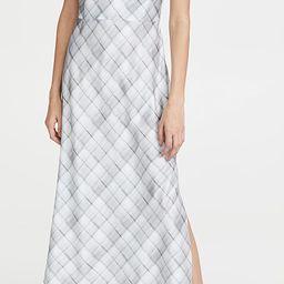 Hazy Plaid Cowl Neck Slip Dress   Shopbop