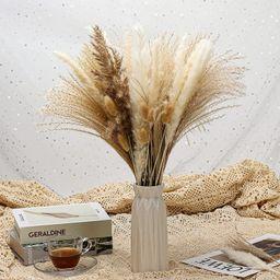 Natural Dried Pampas Grass, 65 Pcs Pampas Grass Decor, Pompous Grass Plants for Wedding Kitchen Y... | Amazon (US)