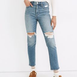 The Perfect Vintage Jean in Denman Wash: Ripped Edition   Madewell