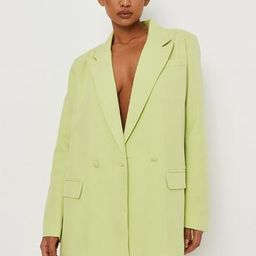 Missguided - Tall Lime Tailored Double Breasted Blazer   Missguided (US & CA)