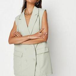 Missguided - Tall Sage Sleeveless Oversized Blazer   Missguided (US & CA)