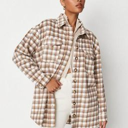 Missguided - Brown Plaid Shacket   Missguided (US & CA)
