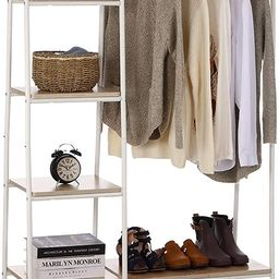 Clothing Rack Garment Rack with Shelves, Wardrobe Rack Freestanding Closet Racks with Metal Hange...   Amazon (US)