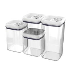 Better Homes & Gardens 4 pack Flip-Tite Square Food Storage Container Set - Walmart.com   Walmart (US)