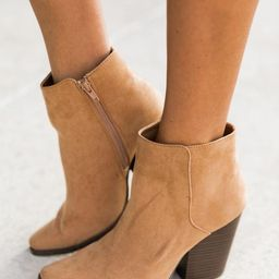 Cecily Brown Suede Booties   The Pink Lily Boutique