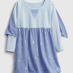 babyGap &#124 Disney Elsa Cape PJ Dress | Gap (US)