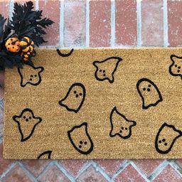Halloween Doormat / Welcome Mat / Ghost / Thanksgiving Doormat | Etsy | Etsy (US)