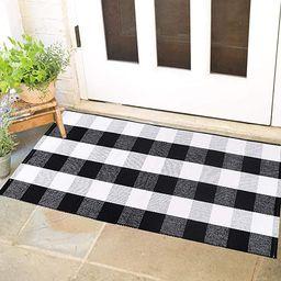 "Ihoming Buffalo Plaid Rug (23.6""x35.4""), Checkered Area Rug Indoor/Outdoor Door Mat, Checkered Ou... | Amazon (US)"