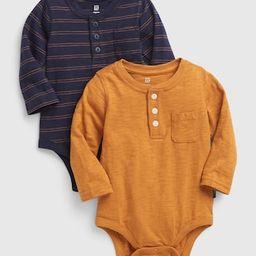 Baby Henley Bodysuit (2-Pack) | Gap (US)