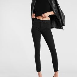 Mid Rise Black Extra Supersoft Skinny Jeans   Express