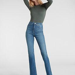 High Waisted Medium Wash 90s Bootcut Jeans   Express