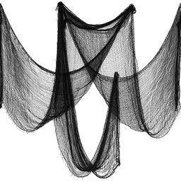 Biubee Pack of 5 Halloween Black Creepy Cloth- Spooky Fabric Cloth for Haunted House Halloween Pa... | Amazon (US)