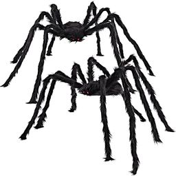 JOYIN 2 Pack 5 Ft. Halloween Hairy Spider Outdoor Decorations,Scary Giant Spider Fake Large Spide... | Amazon (US)