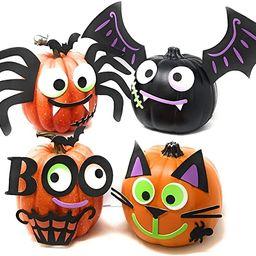 Funiverse Mega Bulk Pack 126 Piece Foam Halloween Pumpkin Decorating Craft Kit Stickers - Makes 1... | Amazon (US)