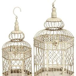 Deco 79 Metal Bird Cage, 21-Inch and 18-Inch, Set of 2 | Amazon (US)