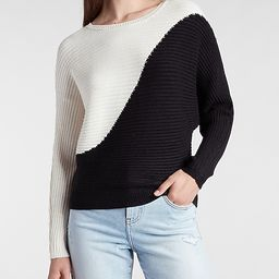 Ribbed Color Block Sweater | Express