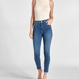 Mid Rise Supersoft Knit Medium Wash Skinny Jeans | Express