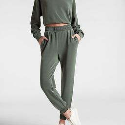 Super High Waisted Sueded Scuba Satin Joggers | Express