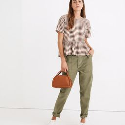 Medford Top in Textured Gingham   Madewell