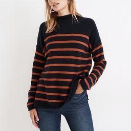 Striped Whitworth Mockneck Sweater in Coziest Yarn   Madewell