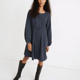 (Re)sponsible Long-Sleeve Button-Front Mini Dress   Madewell