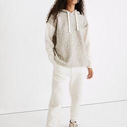 Quilted-Sleeve Hoodie Sweatshirt   Madewell