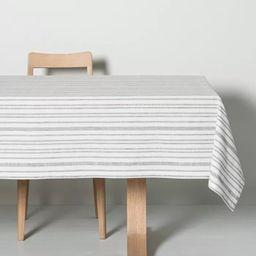 Multistripe Tablecloth Black/Sour Cream - Hearth & Hand™ with Magnolia   Target