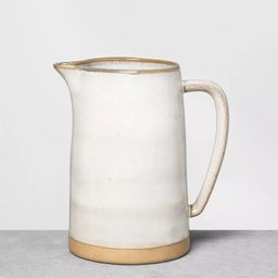 Stoneware Pitcher Gray - Hearth & Hand™ with Magnolia   Target