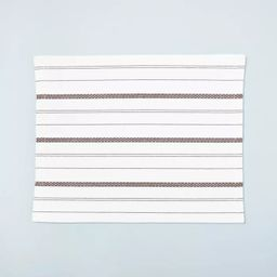 Seasonal Stripes Woven Placemat Gray/Pumpkin Brown - Hearth & Hand™ with Magnolia   Target
