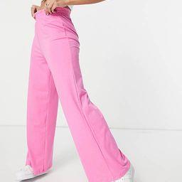 ASOS DESIGN jersey wide leg trouser in pink marl   ASOS   ASOS (Global)