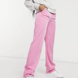 Vila tailored high waisted trousers in pink   ASOS   ASOS (Global)