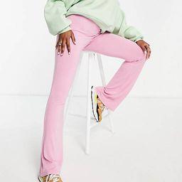 ASOS DESIGN kick flare trouser in pink   ASOS   ASOS (Global)