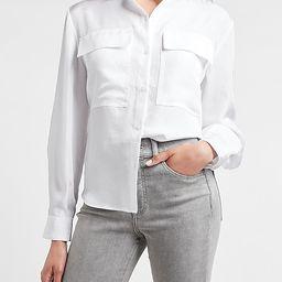 Two Pocket Button-Up Shirt   Express