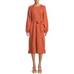 The Get Women's Tiered Dress with Long Sleeves - Walmart.com   Walmart (US)