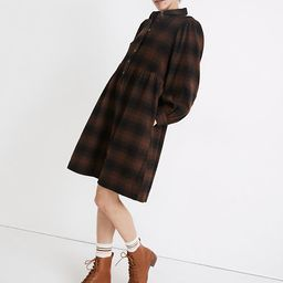 Plaid Flannel Babydoll Shirtdress | Madewell