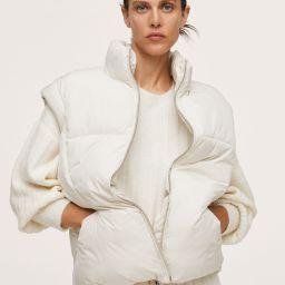Quilted zipper gilet | MANGO (US)