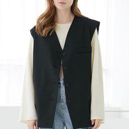 Jade Oversized Vest   Storets (Global)