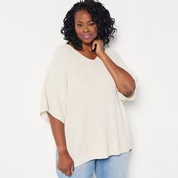 Girl With Curves Oversized Tunic Sweater   QVC