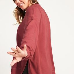 Vintage Long-Sleeve Garment-Dyed French-Terry Tunic Sweatshirt for Women | Old Navy (US)
