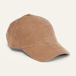 Gender-Neutral Corduroy Baseball Cap for Adults | Old Navy (US)